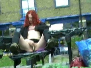 Redhead Amateur Uk Babe Monica Flashing London