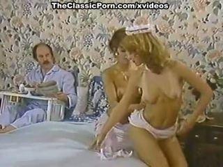 Karen verë, nina hartley në porno klasike kapëse me një i eksituar shërbyese