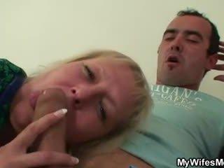 Lewd oldie seduces him while his wife ...