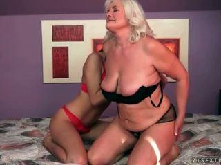 lesbisk sex, gamle og unge, hd porno