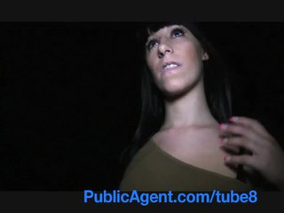 Publicagent espanhola jovem grávida com grande tetas e cu a foder outdoors
