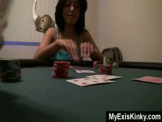 Guy plays strippoker with his gf gfgirlfriend