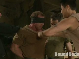Muscled Soldier Turned Into A Sex BondMan