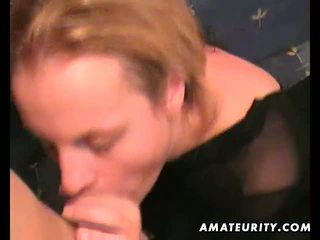 Amateur couple home fucking with facial cumshot