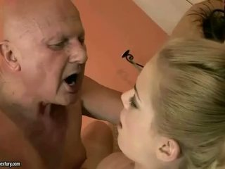 Very old grandpa loves young girl