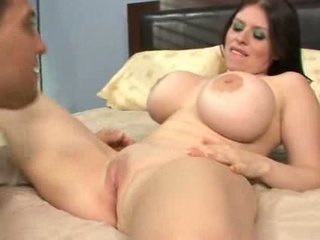 Busty mom has something much better for you Video