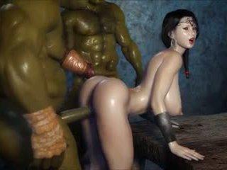 2 geants baisent une jolie fille, tasuta porno 3c