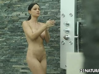 Abbie cat's hot shower fuck
