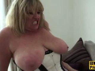 squirting, british, granny