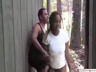 Ghetto Bitch Gets Dared To Fuck In Public