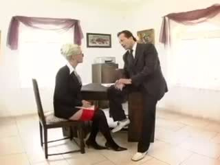 Kathy Anderson - Busty secretary fucked in stockings and a garter