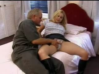 British floozy Alicia Rhodes in a FMM 3some in boots