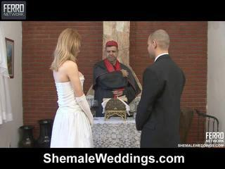 Blande av carla, tony, alessandra av shemale weddings