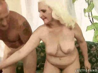 Naughty granny fucking like crazy