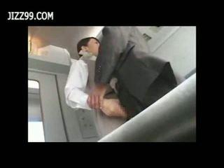 เซ็กซี่ รถไฟ พนักงานเสิร์ฟหญิง ระยำ ด้วย passenger