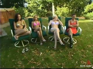 Horny Outdoor Masochism Fucking Party Around Submissive Honeys Shaged By Friends And Honeys