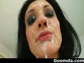 Aletta ocean 異なる types cumshoots へ 彼女の 顔 2