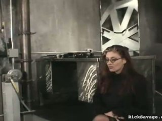 He lightly spanks her bokong