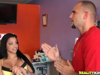 Young and hot latina salesgirl abella anderson