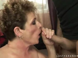 Lusty grandma gets fucked hard