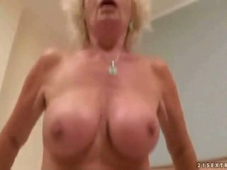 Naughty granny gets fucked in POV