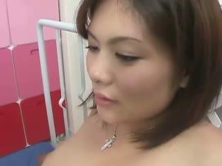 Asiatico incinta has arrapato pelosa vulva
