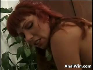 Dirty Red Haired Slut Doing Ass To Mou...