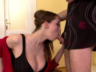 brunette, doggystyle, shaved pussy