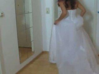 Ragazza in suo matrimonio abito scopata difficile 1