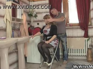 Seine ehefrau leaves und er bangs sie heiß mutter