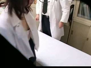 Asian Gynecologist fucks his patient o...