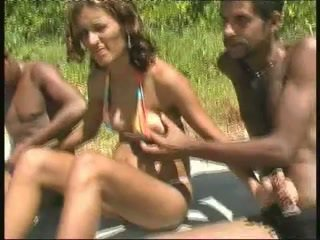 brazilian, sort og ebony, gangbang
