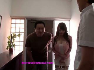 bröst, japansk, stora bröst