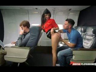 Латинка стюардеса nailed в the plane