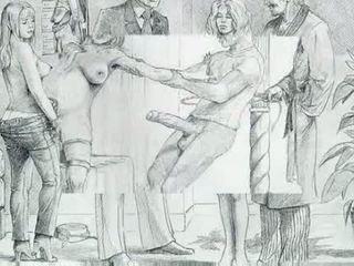 고전적인 과 포도 수확 horror artwork