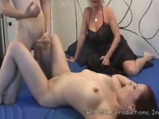 mother make her son to fuck his step-s...