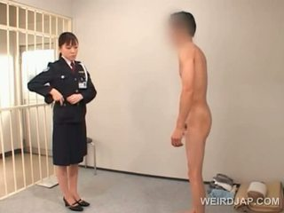 Nasty Asian Police Woman Cunt Licked By Horny Convict