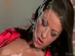 brunette, big boobs, babe