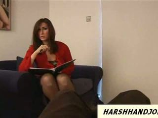 Paige Turnah gives harsh handjob