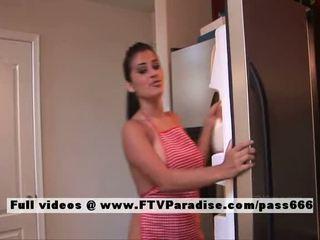 Alexa Loren adored naked brunette in the kitchen