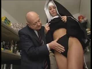 Olasz latin apáca megalázás által trágár régi férfi