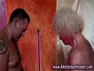 Real dutch blonde whore gets facial