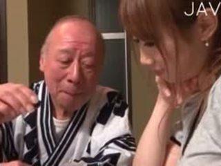 japonijos, kūdikis, senas + young