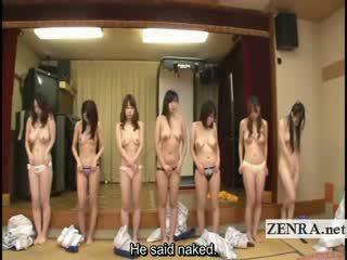 Subtitled grupa no japānieši milfs stripping par racing spēle