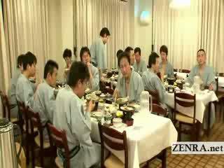japanse, pervers, het eten