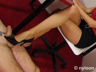 fetish kaki, close-up, stoking