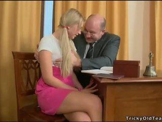 Delighting two horny teachers
