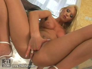 Hot Blond Alexa Weix Fingering Her Soaked Pink Pussy