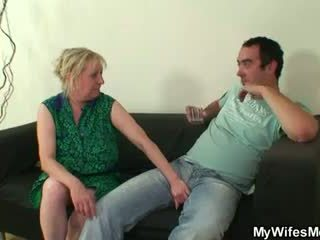 She finds her old mom sitting on her B...
