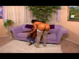 Perfect ass gets fucked by black snake